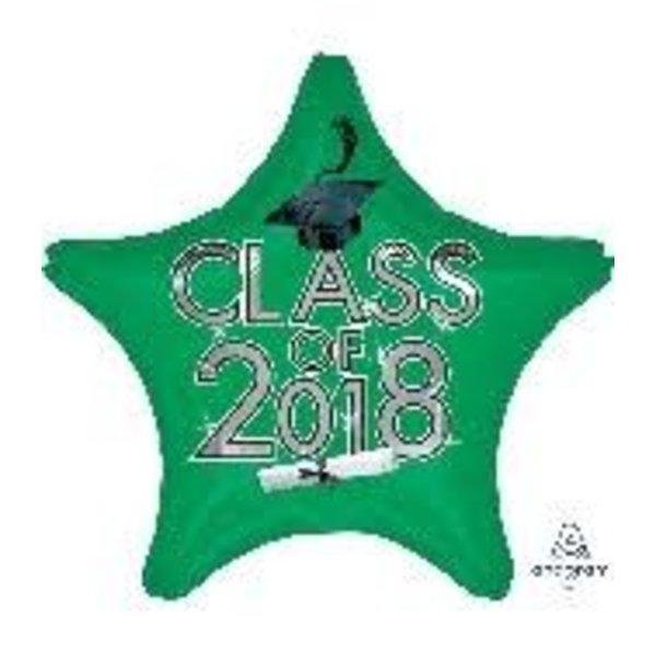 *Class of 2018 Green Star Graduation Mylar Balloon