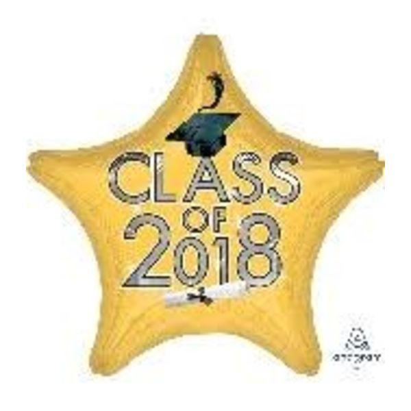 *Class of 2018 Yellow Star Graduation Mylar Balloon