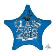 *Class of 2018 Blue Star Graduation Mylar Balloon
