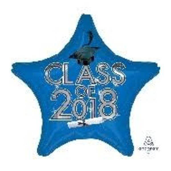 *Class of 2018 Blue Star Graduation Mylar Balloon