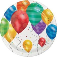 "*Balloon Blast 7"" Dessert Plates 8ct"