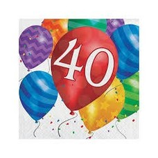 *Balloon Blast 40 Lunch Napkin 16ct