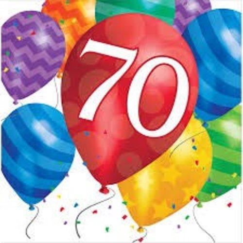 *Balloon Blast 70 Lunch Napkin 16ct