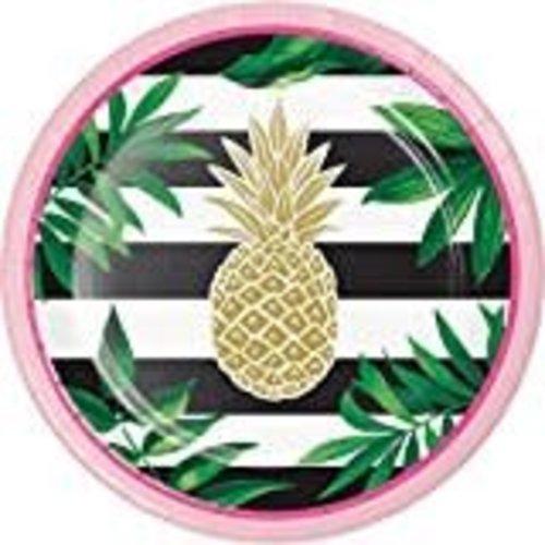 "*Pineapple Wedding 7"" Dessert Plate 8ct"