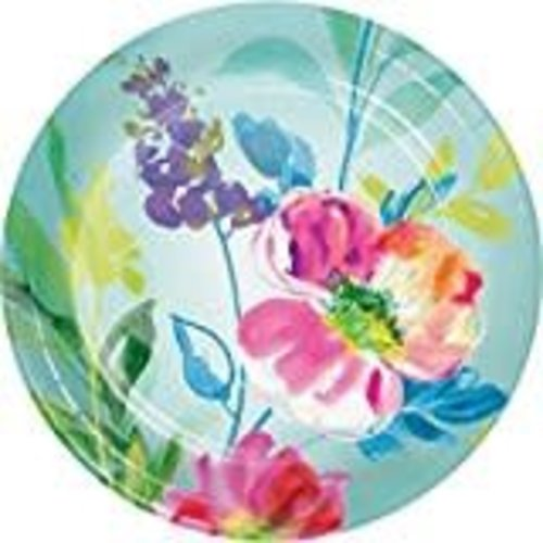 "*Painterly Floral 7"" plates 8ct"