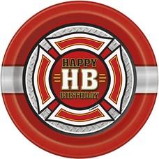 Fire Truck 7in Plate