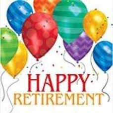 *Happy Retirement Balloon Blast Lunch Napkin