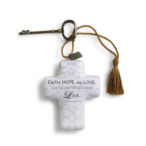 Faith, Hope, and Love Artful Cross