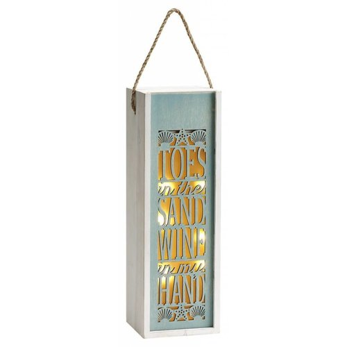 Toes in the Sand Light Up Wine Caddy