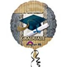 "*Golden Grad 18"" Mylar Balloon"