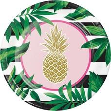 "*Pineapple Wedding 10"" Banquet Plate 8ct"