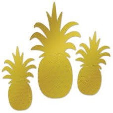 *Pineapple Foil Cutouts 3ct