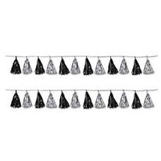 Metallic Tassel Garland Black & Silver