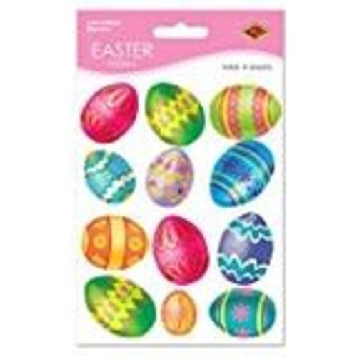*Easter Stickers Painted Eggs 4 sheets