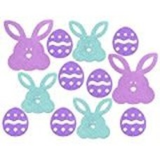 *Easter Eggs Bunny 12ct Glitter Cutouts