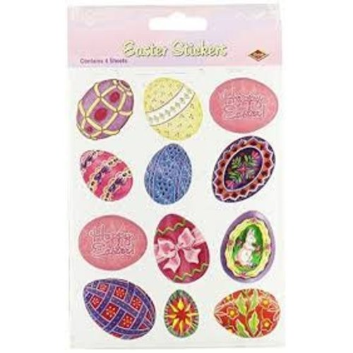 *Easter Stickers Eggs 4 sheets