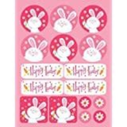 *Happy Easter Hippity Hop Stickers 4 sheets