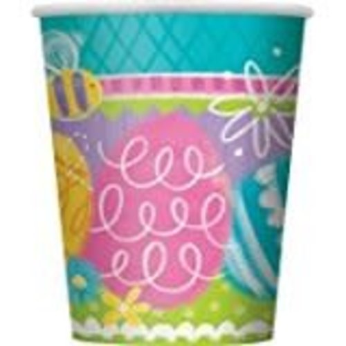 *Spring Eggs 9oz Cups 8ct