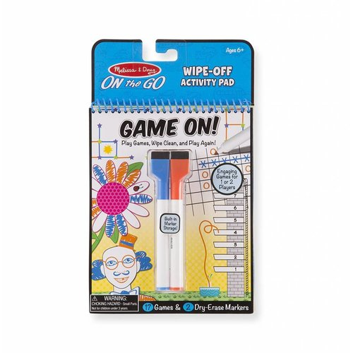 Game On! Wipe Off Activity Pad