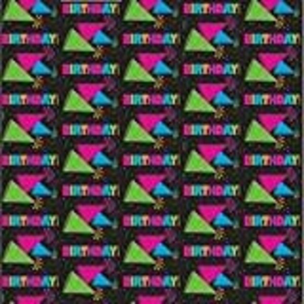 Neon Birthday Gift Wrap Roll 30 X 5ft Amys Party Store