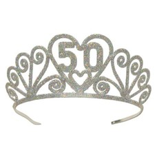 50 Glittered Metal Tiara