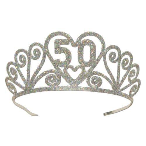 50 Glittered Metal Tiara