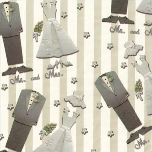 "* Mr. & Mrs. Wedding Roll Wrap 30"" x 5ft"