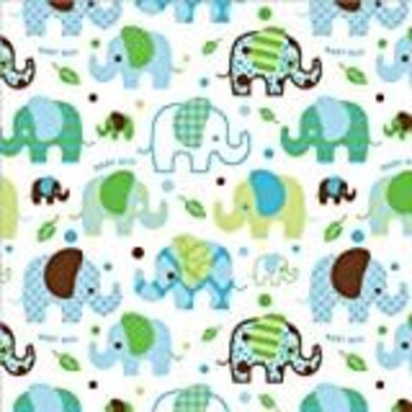 "*Baby Boy Elephant Roll Wrap 30"" x 5ft"