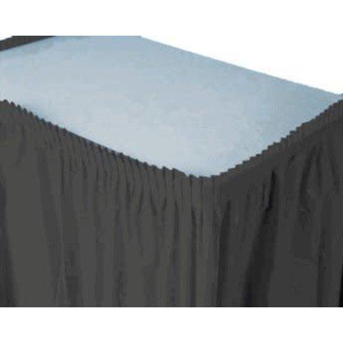 *Black Velvet Plastic Table Skirt