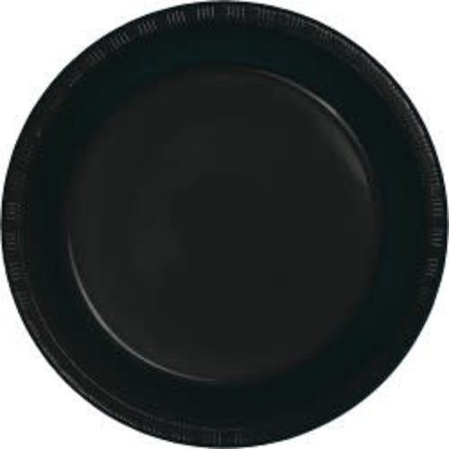 "*Black Velvet 10"" Plastic Banquet Plates 20ct"