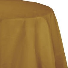 *Glittering Gold Octy Round Tablecover