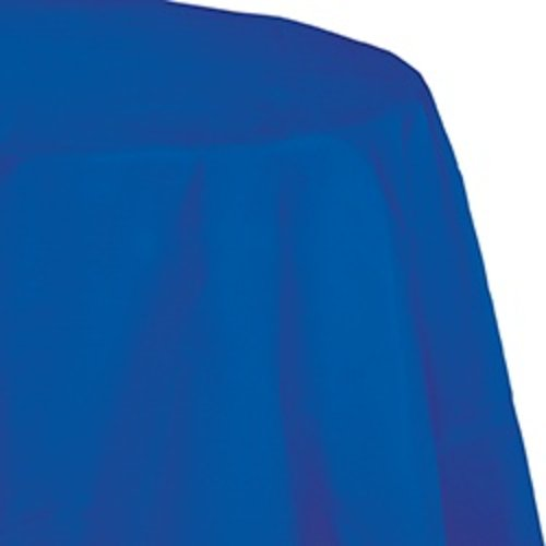 """*Cobalt 82"""" Octy Round Plastic Tablecover"""