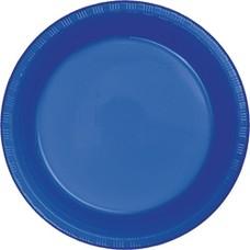 "Cobalt Plastic 10"" Banquet Plates 20ct"