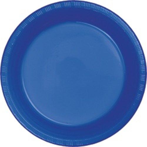"""*Cobalt 7"""" Plastic Dessert Plates 20ct"""