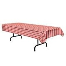 Red White Stripe Tablecover