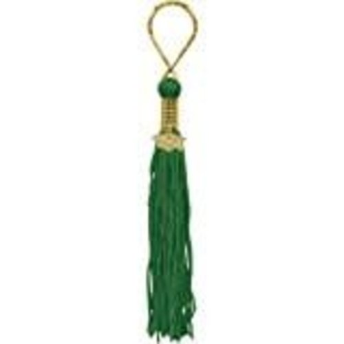 Green Grad Tassel Key Chain