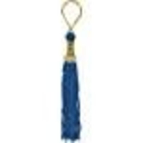 Blue Grad Tassel Key Chain