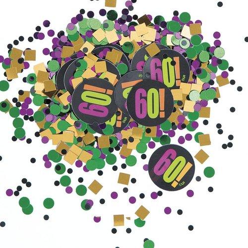 Unique Birthday Cheer 60 Confetti