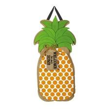 Pineapple Greeting Burlap Door Decor