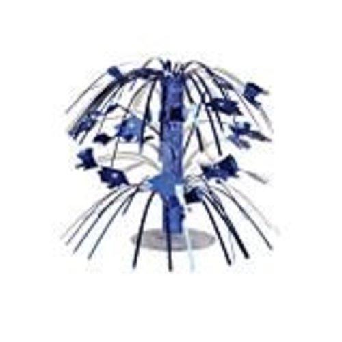 Blue Grad Cap Mini Cascade Centerpiece