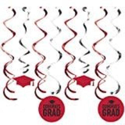 Red Grad Dizzy Danglers 8ct