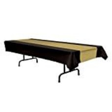 *Black & Gold Beistle Tablecover
