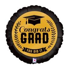 """*Congrats Grad 18"""" Gold"""