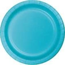 """Bermuda Blue 7"""" Paper Plate 24ct"""