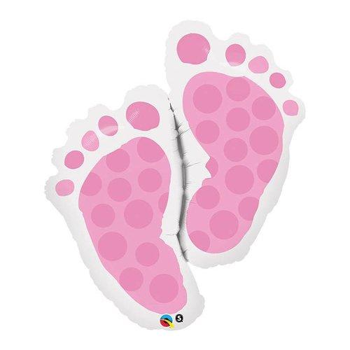 """*Pink Baby Feet 35"""" Jumbo Mylar"""
