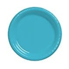 "Bermuda Blue 7"" Plastic Dessert Plates"