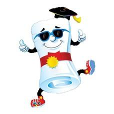 "Grad Diploma 37"" Jumbo Mylar"