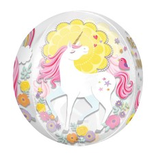 Magical Unicorns Orbz Mylar Balloon