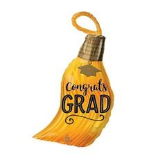 """Congrats Grad Tassel 28"""" Mylar Balloon"""