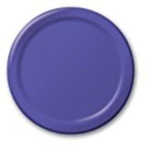 "Purple 7"" Paper Dessert Plates 24ct"